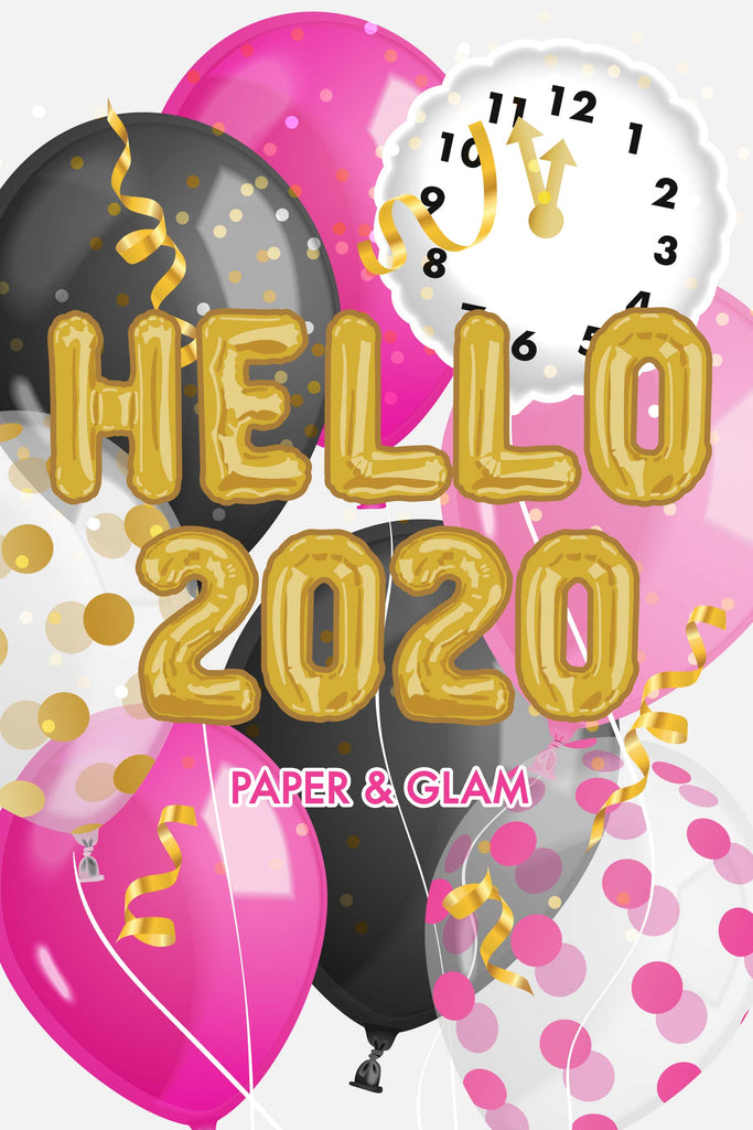 Hello 2020 Digital Dashboard & Wallpaper