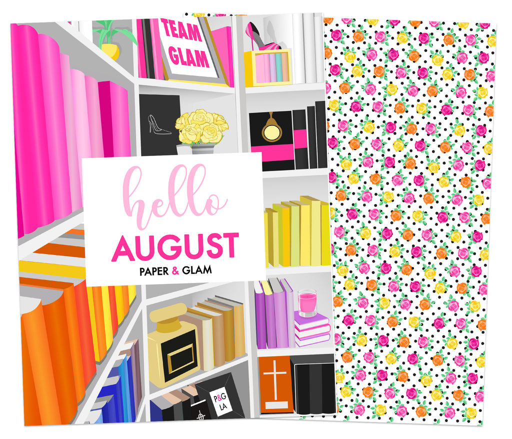 Hello August Planner Cover