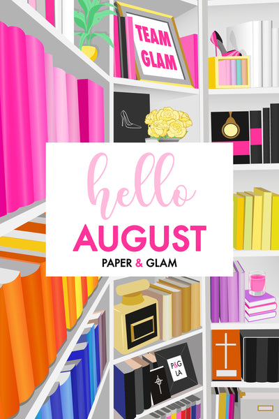 Hello August Planner Dashboard