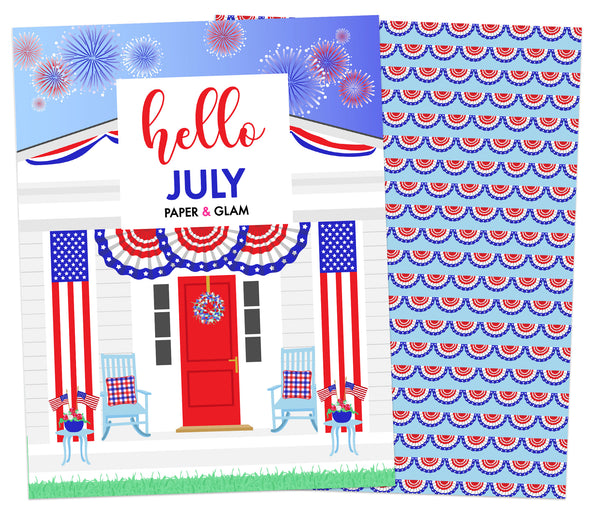 Hello July Planner Cover