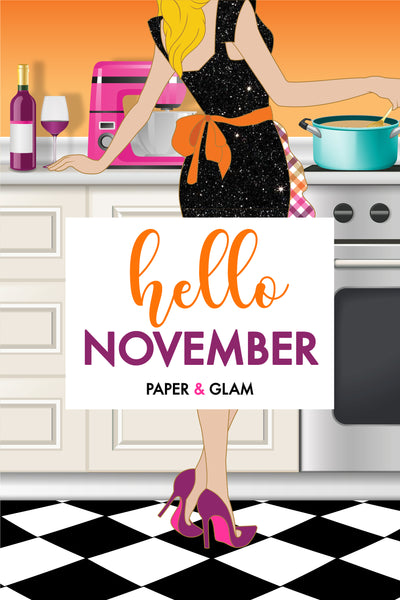 Hello November Digital Dashboard & Lockscreen