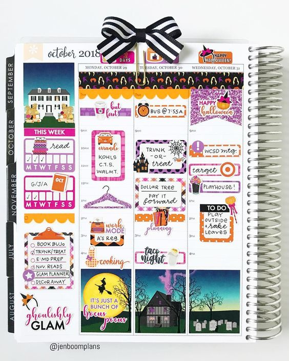 Glam Hocus Pocus Weekly Kit Planner Stickers