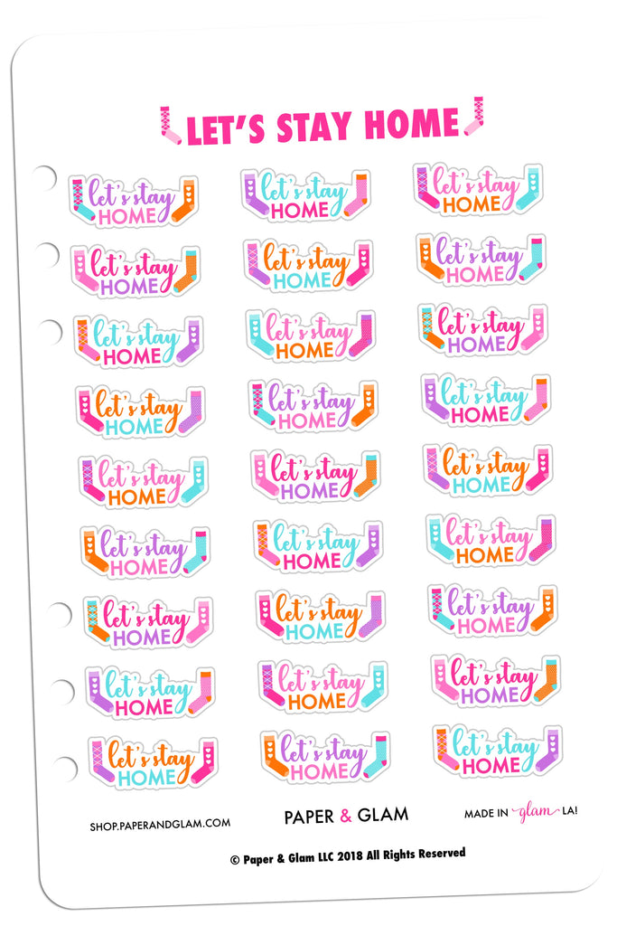 Let's Stay Home Planner Stickers