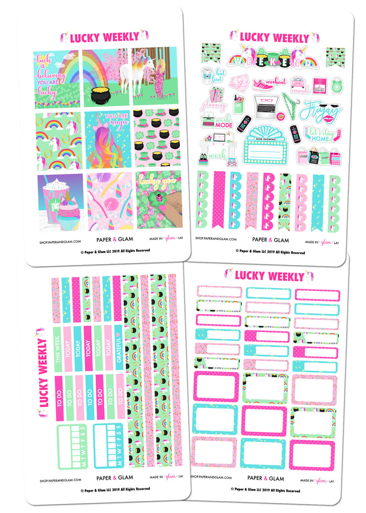 Lucky Weekly Kit by Paper & Glam