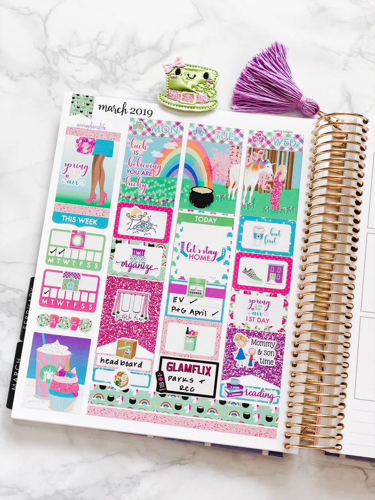 Lucky Weekly Kit Digital Planner Stickers