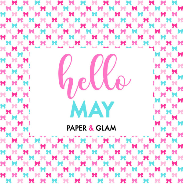 All The Glam Monthly Planner Kit (18 Sheets)