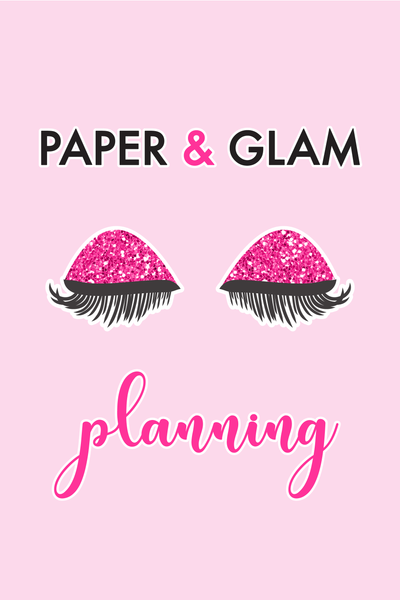 Paper & Glam Planning Digital Dashboard & Lockscreen