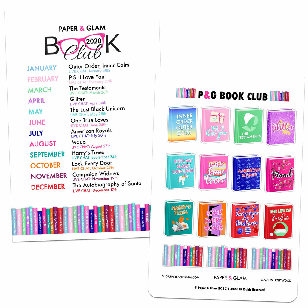 2020 Book Club Planner Kit
