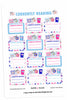 Currently Reading Winter Planner Stickers