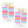 Yearly Memory Dashboard Digital Planner Stickers