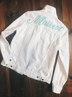 Embroidered Bridal Jacket Large Name