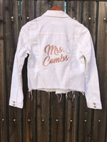 [LTB Customs] Mrs. Bridal Denim Jacket