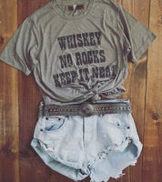 Whiskey No Rocks Tee Ash