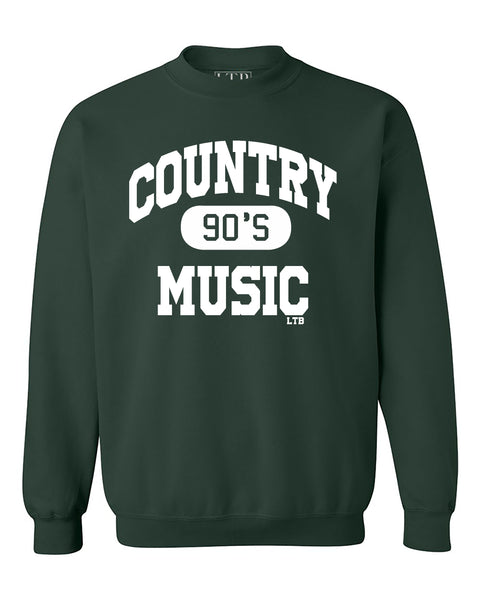 90's Country Crewneck Sweatshirt Green