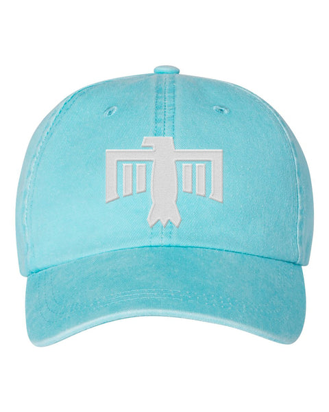Thunderbird Hat Aqua/White