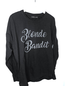 Blonde Bandit Black Long Sleeve