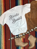 Blonde Bandit White Tee