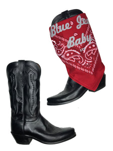 Blue Jean Baby Bandana Red