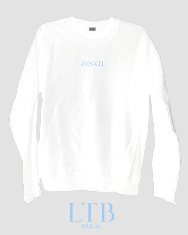 [LTB Customs] Bridal Block Name Crewneck Sweatshirt