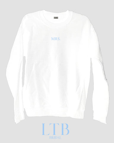 [LTB Customs] Bridal Mrs. Crewneck Sweatshirt