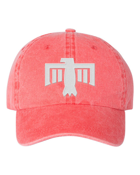 Thunderbird Hat Coral/White