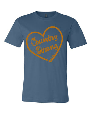 Z Country Strong Tee Blue