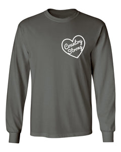 Country Strong Long Sleeve Charcoal