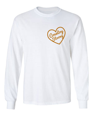 Z Country Strong Long Sleeve White