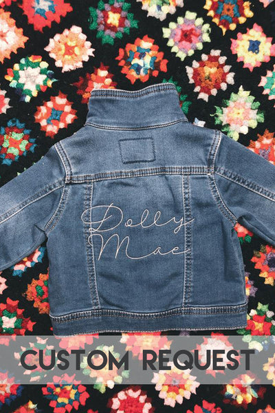 [LTB Customs] Request Embroidered Baby/Toddler Denim Jacket