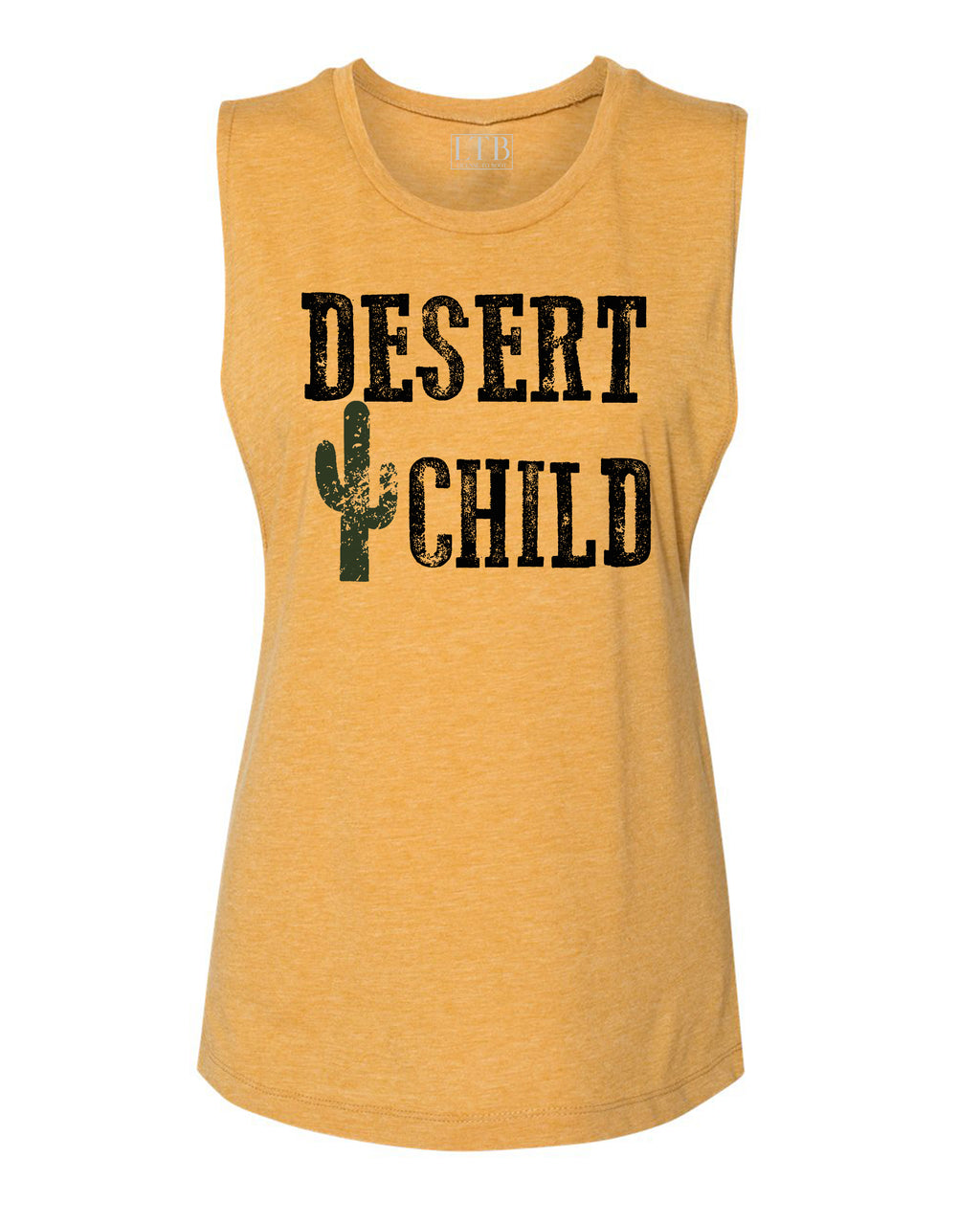 Desert Child Muscle Tank Gold