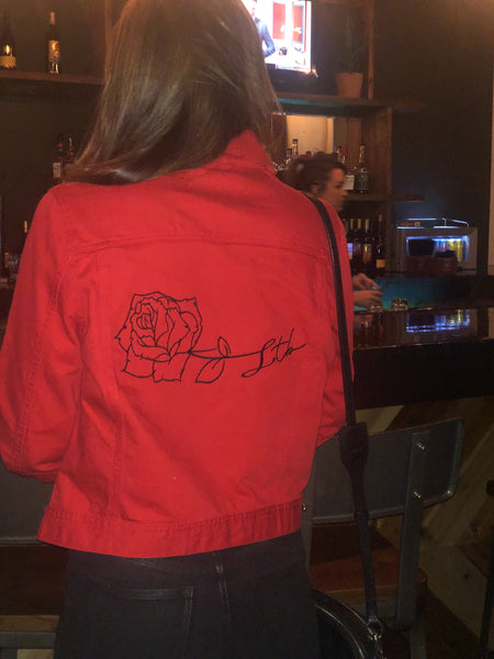 Rose LTB Red Denim Jacket Medium
