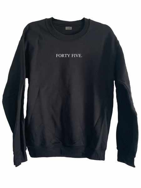 [LTB Customs] Embroidered Block Number or Name Crewneck Sweatshirt