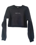[LTB Customs] Embroidered Block Name or Number Crewneck Sweatshirt Cropped