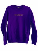 [LTB Customs] Go Vikings Crewneck Sweatshirt