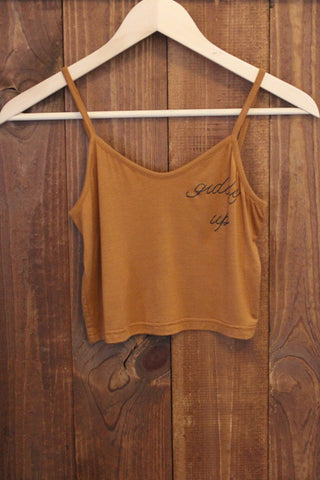 Giddy Up Bralette Copper