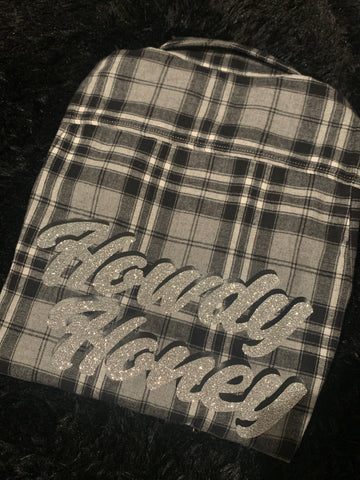 Howdy Honey One of a Kind Flannel #5 Oversized Small Fitted Medium