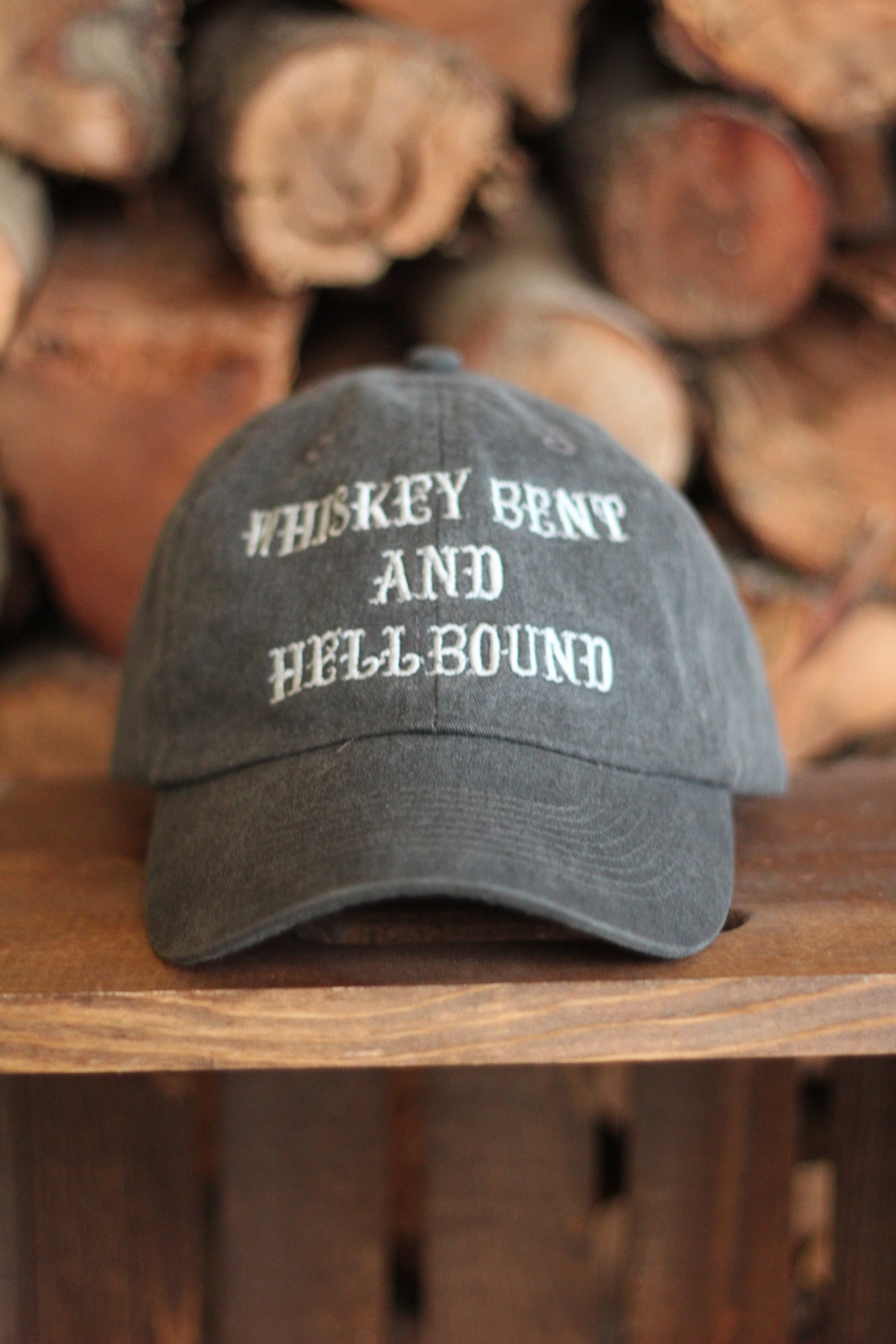 Whiskey Bent and Hellbound Hat Black