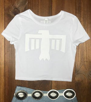 Thunderbird Crop Tee White