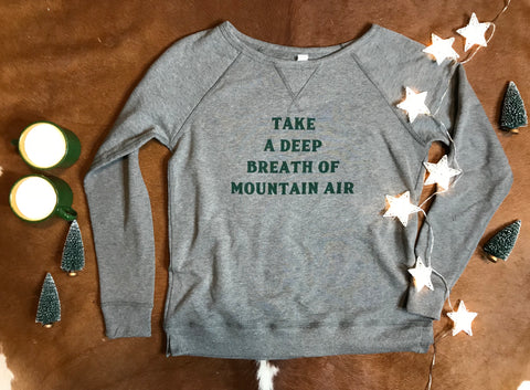 Mountain Air Sweatshirt Charcoal