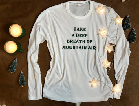 Mountain Air Long Sleeve White