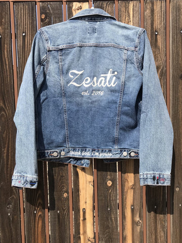 [LTB Customs] Embroidered Bridal Jacket NAME + EST.