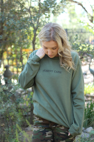 Johnny Cash Crewneck Sweatshirt