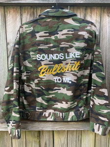Bullshit Jacket Camo Denim Medium