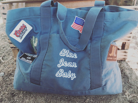 Blue Jean Baby Tote Bag