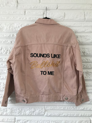Bullshit Jacket Blush Denim Oversized Small