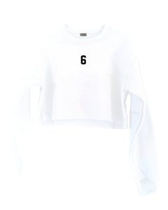 [LTB Customs] Embroidered Jersey Number Sweatshirt Cropped