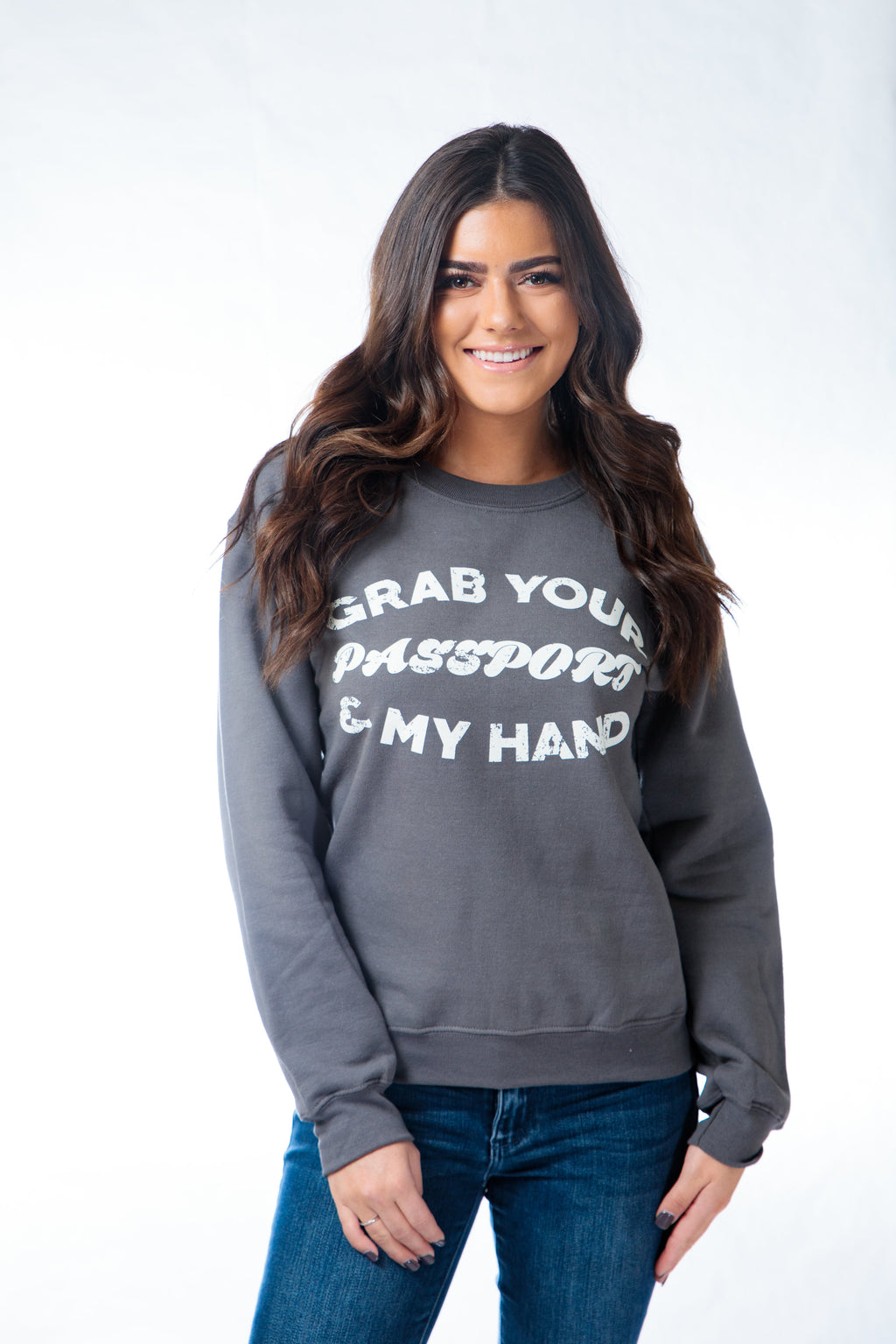 Passport Sweatshirt Charcoal