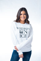 [SUMMER SALE] Whiskey on Ice Crewneck Sweatshirt White