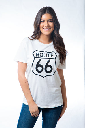 Z Route 66 Distressed Tee