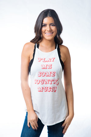 Play Me Country High Neck Tank